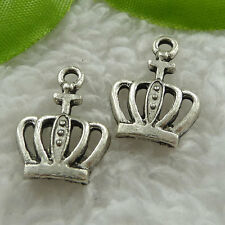 Free Ship 240 pieces tibet silver crown charms 20x15mm #1197