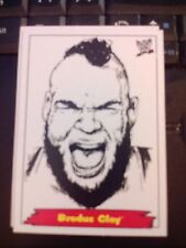 "2012 WWE Heritage Jerry ""The King"" Lawler Portraits #2 Brodus Clay MINT"