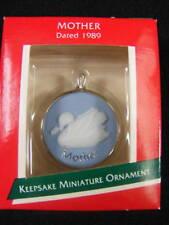 Hallmark Miniature 1989 Cameo Ornament Mother MIB