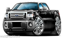 2010-12 Ford F-150 4x4 Truck Wall Graphic Sticker Vinyl Decal Man Cave Cling NEW