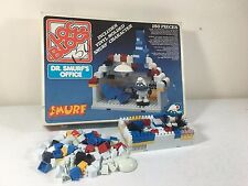 Loc Blocs Smurfs Playset Dr. Smurf's Office Vintage