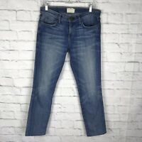 Current Elliot Womens Blue Denim Size 30 (inches) Zipper Fly Altered Ankle Jeans