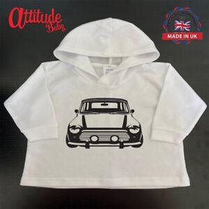 Plain Baby Hoody-Classic Mini-White Printed Baby Clothes-Baby Hoodie-Mini Club