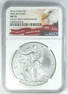 2016 NGC MS 70 United States First Releases American Eagle 1 oz Silver .999 Coin