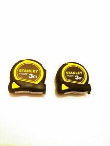 2x Stanley Pocket Tylon Tape 3m Length x 12,7mm Width Metric Only