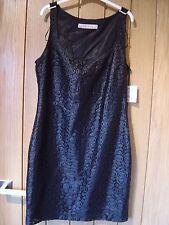 Zara Basic Bodycon Black Lined Dress Size M NEW (tags) RRP £29.90 (Ref Z)