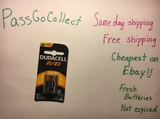 2 NEW Duracell A23 23A, A23BP, GP23, MN21, 21/23 12V Alkaline Battery Exp 2022