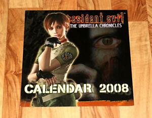 2008 Resident Evil The Umbrella Chronicles Capcom German Rare Calendar Rebecca