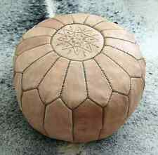 Handmade Moroccan Leather Pouf,Ottoman Footstool Hassock100%real Natural Leather