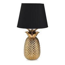 Keramik Tischleuchten Ananas Style mit rundem Stofflampenschirm Wohnraumleuchten