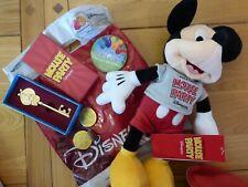 Disney Mickey Mouse 90th Birthday Key & Mouse Party Plush Stuff Disneyland Paris