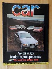 BMW 325i SALOON orig 1991 UK Mkt Road Test Brochure - E36 3 Series
