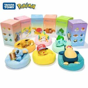 Poke mon Pikachu Starry Dream Series Anime Figures Plush Base Model Dolls Toys