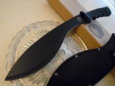 "FT Tactical Black Kukri Machete Knife Sword w Sheath 0303 17 1/2"" Stainless New"