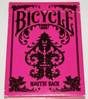 Bicycle Nautic Back Playing Card Deck Pink 2012 Great Poker or swap Made in USA