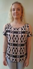 New Brown Sugar size 10 stretch print top NWT RRP$59.95 short sleeve