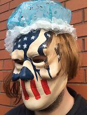 Máscara de The Purge 3 Halloween año de elecciones Bandera Americana Stars & Stripes Casquillo de Peluca &