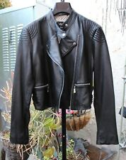 NWT $299 Kinder Aggugini Black  Lamb Leather Motor Jacket L Macy's RARE RARE