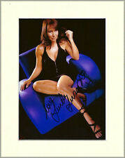 LINDA LUSARDI GLAMOUR PAGE 3 MODEL PP 8x10 MOUNTED SIGNED AUTOGRAPH PHOTO