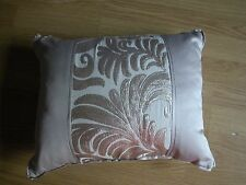 NEXT CUSHION MINK SCROLL CHAMPAGNE SEQUIN EMBROIDERED