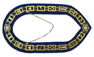 Masonic Regalia Master Mason Metal Chain Collar Blue Backing DMR-400SB