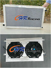 Aluminum radiator & shroud & fan for SUBARU IMPREZA WRX GC8 STI 2.0 1992-2000 MT