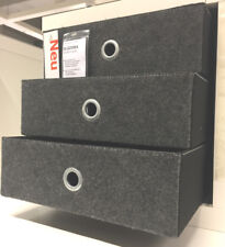 IKEA Bläddra KALLAX Regal Box Einsatz 3 Schubladen Filz Grau Boxen Dröna NEU