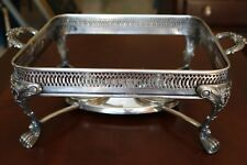 FB ROGERS SILVER PLATED  FOOD WARMER STAND WITH BURNERS