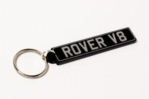 Rover V8 Keyring - British UK Number Plate Classic Car Keytag / Keyfob