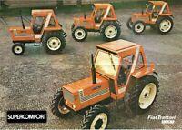 Fiat Fiatagri Supercomfort Trattori Range 780 890 DT Brochure Poster Advert A3