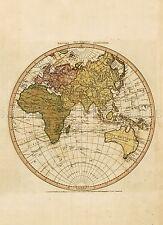 MAP ANTIQUE FADEN 1786 EASTERN OLD WORLD HEMISPHERE REPLICA POSTER PRINT PAM0895