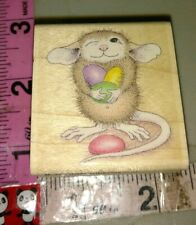 House mouse, mud pie holds jelly beans, color ,113,rubber stamp, wood