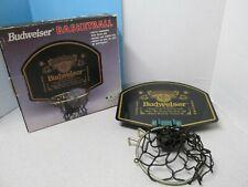 Budweiser Waste Basket Acrylic Backboard w/ Brass Rim 1994 Anheuser-Busch