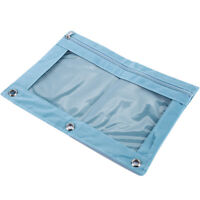 Rings Binder Pencil Pouch with Pencil Case with Double Pocket and Mesh Window SL