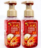 LOT 2 PUMPKIN CRANBERRY CIDER BATH & BODY WORKS FOAMING HAND SOAP WASH 8.75 OZ