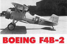 Sport Scale  Boeing F4B-2/P-12 , 60 inch WS    RC AIrplane Printed Plans