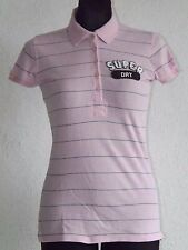 Superdry vintage womens cotton short sleeve striped polo shirt size S