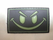 Evil Smiley Face PVC Patch Military Tactical Combat Morale Glow In The Dark