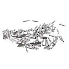 100 Pieces Crimping Loop Sleeve Fishing Tube Fishing Wire Pipe Line 1.0x8mm