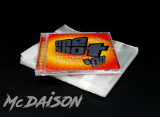 McDAISON - 50 BUSTE trasparenti RICHIUDIBILI per custodie CD JEWEL CASE musicali