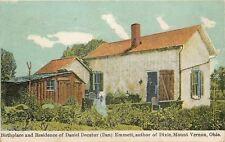 Mount Vernon Ohio~Daniel Decatur Emmett Home~Author of Dixie~Man in Doorway~1912