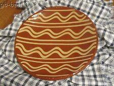 FOLK ART Pennsylvania Redware SLIPWARE Plate Artist SIGNED Decorated