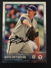 ROSS DETWILER 2015 TOPPS AUTOGRAPHED SIGNED AUTO BASEBALL CARD RANGERS 405