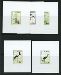 R567  Senegal  1997  birds  DELUXE CARDS  5v.    MNH