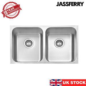 JASSFERRY Premium Undermount Stainless Steel Kitchen Sink 2 Bowl 750x440 mm