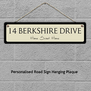 Hanging Street Sign Personalised Gift Custom Name Plaque Home House Any Text