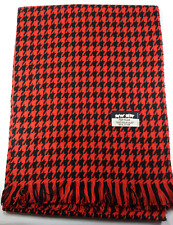 New Women Scarf Lady Shawl Wrap Long Scarf Stole Houndstooth Tassel Red MIT