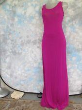 VENUS Sz XS Magenta Cut Out Back Maxi Sleeveless Sexy Women's Dress EUC