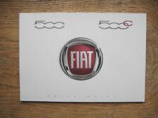 Neuf Origine FIAT 500 500 C anglais Guide rapide livre livret 53007515 001