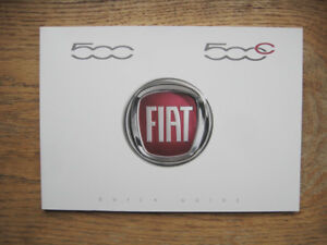 NEW GENUINE FIAT 500 500C ENGLISH QUICK GUIDE BOOK BOOKLET 53007515 001